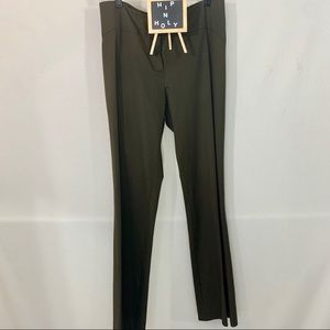 DKNY CITY STRAIGHT LEG TROUSERS OLIVE GREEN SIZE 4